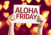 Aloha Friday card — Stock Photo