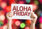 Aloha Friday card — 图库照片