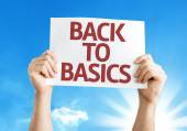 Back to Basics card — Stock Photo