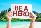 Ser um cartão de herói — Fotografia Stock