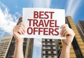 Best Travel Offers card — Stock Photo