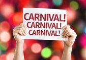 Carnival card with colorful background — Stock Photo