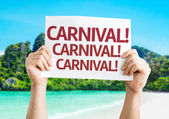Carnival! Carnival! Carnival! card — Stock Photo