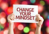 Change your Mindset card — Foto de Stock