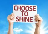 Choose to Shine card — Stock Photo