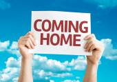 Coming Home card — Stock Photo