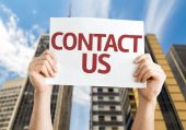 Contact Us card — Stock Photo