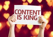 Content is King card — Stock Photo
