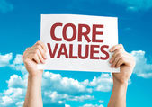 Core Values card — Stock Photo