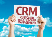CRM Customer Relationship Management card — 图库照片