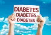 Diabetes Diabetes Diabetes card — Stock Photo