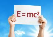 E equal to mc2 card — Stock Photo