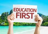 Education First card — Stock Photo