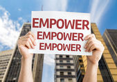 Empower Empower  Empower card — Stock Photo