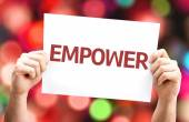 Empower card with colorful background — Stock Photo