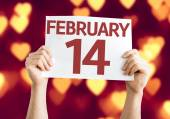 February 14 card — Stock Photo