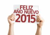 Happy New Year 2015 (In Spanish) card — Stock Photo