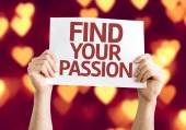 Find Your Passion card — Stock Photo