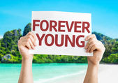 Forever Young card — Stock Photo