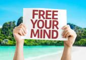 Free Your Mind card — Stock Photo