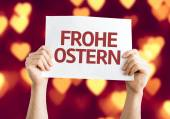 Happy Easter (in German) card — Stock Photo