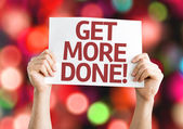 Get More Done card — Stock Photo