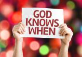 God Knows When card — Stock Photo