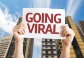Going Viral card — Stock Photo