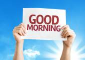 Good Morning card — Stock Photo