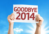 Goodbye 2014 card — Foto de Stock
