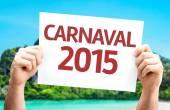 Carnival 2015 (in Portuguese) card — Stock Photo