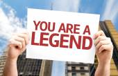 You are a Legend card — Stock Photo