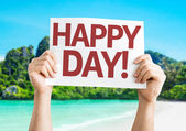 Happy Day card — Stock Photo
