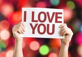 I Love You card — Stock Photo