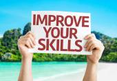 Improve Your Skills card — Stockfoto