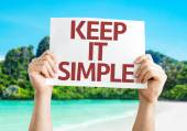 Keep It Simple card — Stock Photo