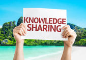 Knowledge Sharing card — Stock Photo