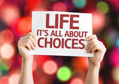 Life is All About Choices card — Stock Photo