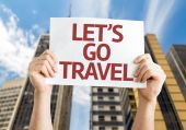 Lets Go Travel card — Stock Photo
