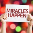 Miracles Happen card — Stock Photo #63651561