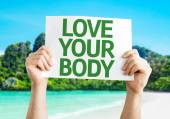 Love Your Body card — Fotografia Stock