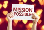 Mission Possible card — Stockfoto