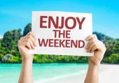Enjoy the Weekend card — Stock Photo