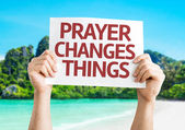 Prayer Changes Things card — Stock Photo