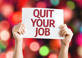Quit Your Job card — Stock Photo
