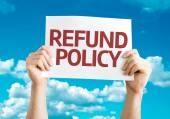 Refund Policy card — Fotografia Stock