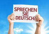 Do You Speak German? (in German) card — Stock Photo