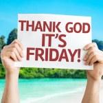 Thank God It's Friday card — Stock Photo #63660541
