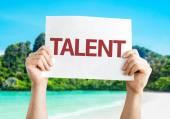 Talent card with a beach — Stock Photo