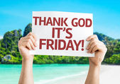 Thank God It's Friday card — Foto Stock